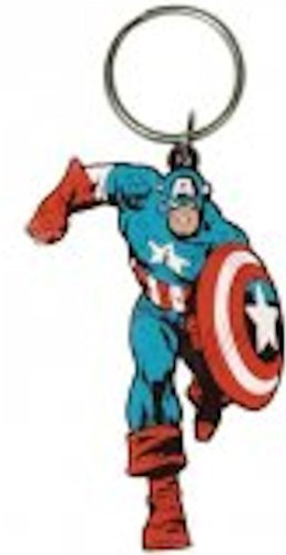 Official Captain America Rubber Keyring -