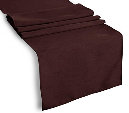 Creative 13'x 72' Classic Solid Table Top Runner - Brown