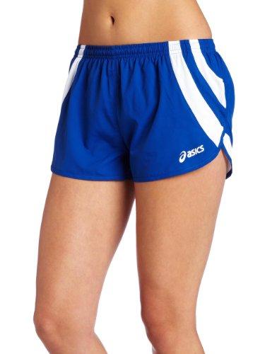 ASICS Women's Intensity 1/2 Split Short, Royal/White, Medium (Womens Split Running Shorts)