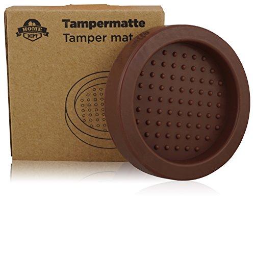 Tampermatte, Tamperstation, Tamperablage zum Espresso und Kaffee zubereiten mit Tamper und der Siebträger Espressomaschine