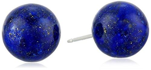 AMAZOn Sterling Silver 12mm Lapis Lazuli Stud Earrings