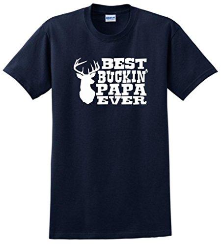 Best Buckin' Papa Ever T-Shirt XL Navy
