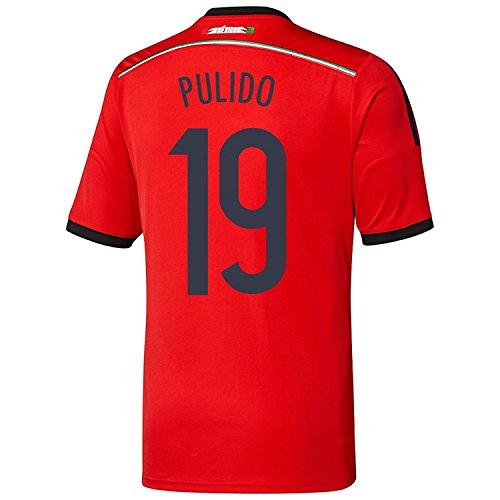 突っ込むアーク自殺Adidas PULIDO #19 Mexico Away Jersey World Cup 2014 YOUTH./サッカーユニフォーム メキシコ アウェイ用 ワールドカップ2014 背番号19 プリード ジュニア向け