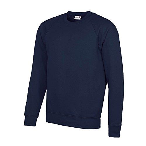 (AWDis Academy Childrens/Kids Crew Neck Raglan School Sweatshirt (S) (Navy))