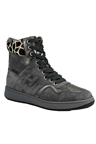 Hogan Sneakers Alta Donna Sneakers H194 Other Active Grigio Antracite Mod. HXW1940F680
