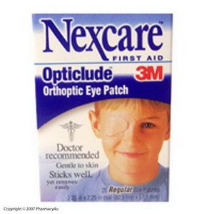 Nexcare Opticlude Eye Patch Reg 20's [Box of 20]