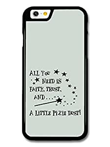 Peter Pan Tinker Bell Pixie Dust Disney Animation Movie Quote case for iPhone 6