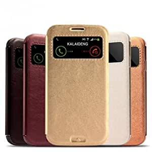 KALAIDENG KA Series Leather Case For Samsung Galaxy S4 I9500 @ Color==Dark Gray