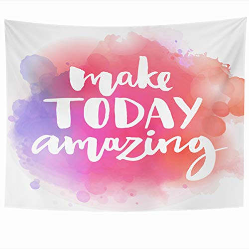 Armko Tapestry Wall Hanging Art 60 x 50 Inches Nice Monday Make Today Amazing Inspirational Quote Slogan Motivate Day Saying Morning Good Home Tapestries Office Bedroom Living Room Dorm