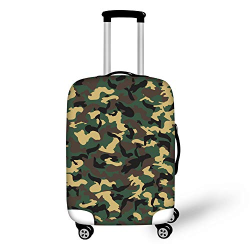Upetstory Travel Luggage Suitcase Cover Protector Apply to 18-21 Inch Trolley Case Cool Baggage Cover Camouflage Design