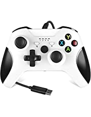Xbox One Controller,Wired Xbox Controller with Headphone Jack for Xbox Series S Xbox Series X Xbox One/S/X and Microsoft PC Windows 7. 10 -Black (White)