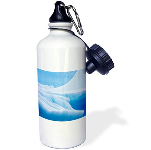 3dRose Danita Delimont - Abstracts - South Georgia Island. Iceberg shapes and hues. - 21 oz Sports Water Bottle (wb_257012_1) -