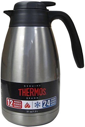 - Thermos 51 Ounce Vacuum Insulated Stainless Steel Carafe
