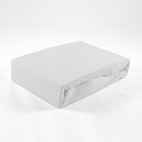 Frottee Spannbettlaken 70 x 140 cm weiß Laken Bettlaken Babybett Spannbetttuch Betttuch