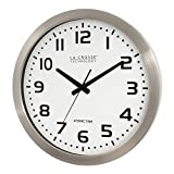 "La Crosse Technology 16 Inch Stainless Steel Atomic Clock - White Dial 16"" Metal Frame"