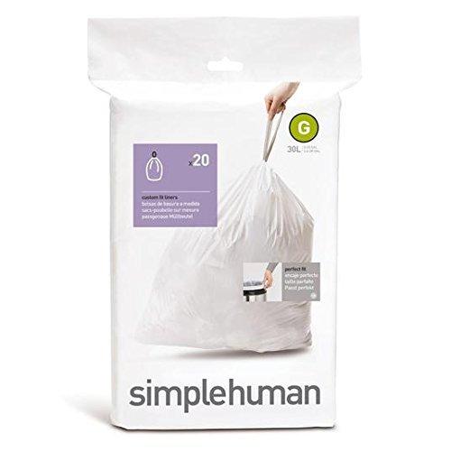 Simplehuman Custom Fit Bin Liners Code G 20 per pack