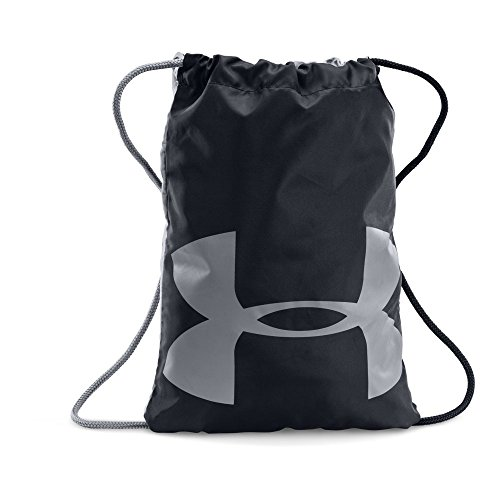 Under Armour Ozsee Sackpack, Black/Steel, One Size (Drawstring Bag)
