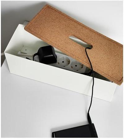 Ikea KVISSLE - Caja de gestión de Cables, Corcho, Blanco: Amazon ...
