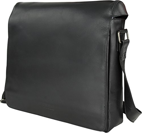 Franky Prato by Raje Hunter Messengerbag mit Laptopfach 15,6 Zoll Schwarz