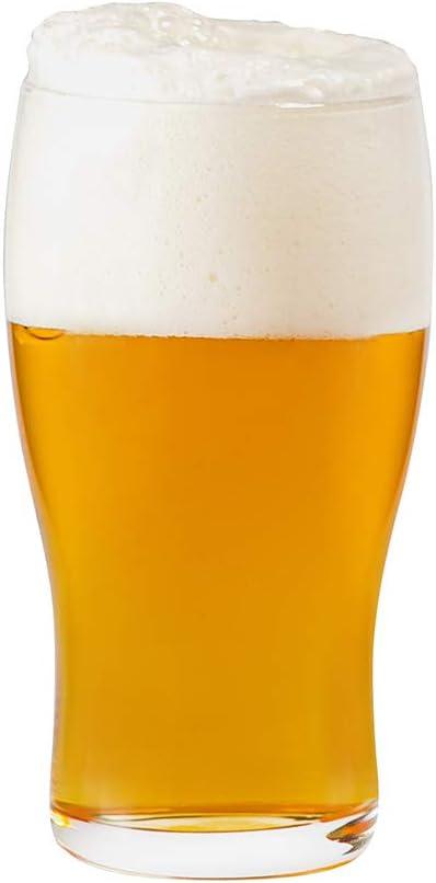 Umi. Essentials - Juego de 6 vasos de pinta para cerveza, zumo, agua y otras bebidas, 570 ml