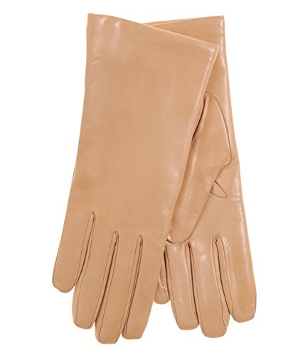 Fratelli Orsini Everyday Women's Italian Cashmere Lined Leather Gloves Size 8 Color Peach