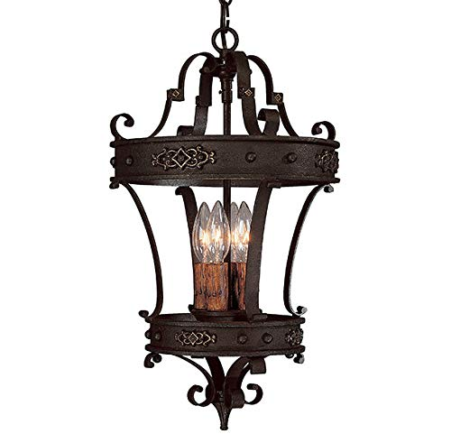 - Capital Lighting 9354RI River Crest Collection 4-Light Foyer Fixture, Rustic Iron Finish