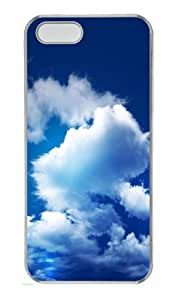 iPhone 5S Case Cover - Blue Sky PC Transparent Case for iPhone 5 and iPhone 5S