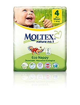 Moltex Nature No1 Eco-nappies Baby Nappies with Bear (Made in Germany)
