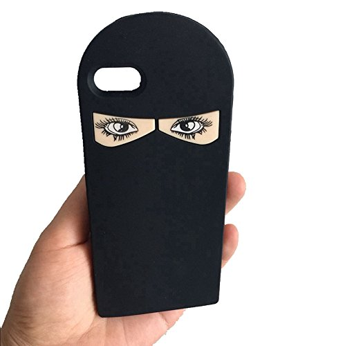 iPhone SE Case, iPhone 5s Case,Arabic Cloth Muslim Dubai Style Design Cute 3D Silicon Cover for iPhone 5 5s SE - Black