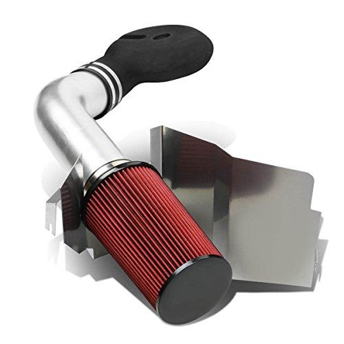 For Dodge Dakota/Durango 5.2/5.9L Silver Coated Aluminum Cold Air Intake Pipe + Heat Shield + Filter