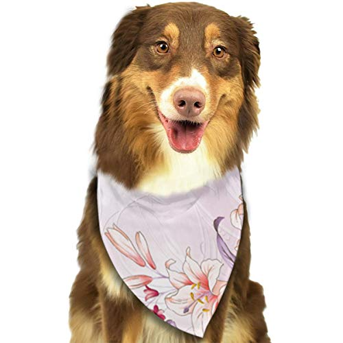 Hand Painted Lily - Lily Hand-painted Bandana Triangle Bibs Scarfs Accessories For Pet Cats And Puppies
