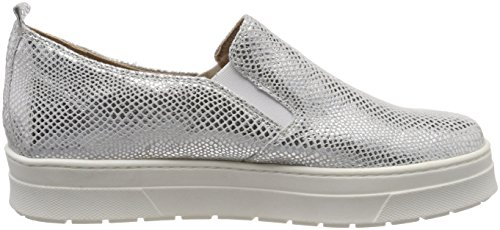 991 Silver Women's Silver 24651 Loafers Caprice Reptile nxZUSIqwR