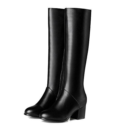 Shoes Damen AgeeMi Winter Schnüren Zehe Schließen Schwarz Stiefel Niedriger Rund SBrSw5dq