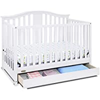 Graco Solano 4 in 1 Convertible Crib w/ Drawer (White)