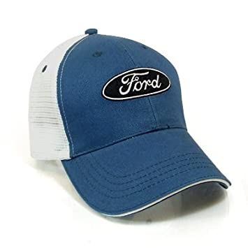 eac1ecdddcd Image Unavailable. Image not available for. Color  Ford Logo Blue Mesh Back Baseball  Hat ...