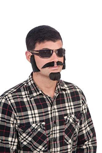 Forum Novelties Men's Facial Hair Disguise Kit, Brown, One Size -