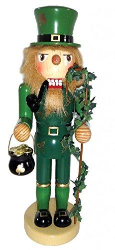 Santa's Workshop Leprechaun with Pot of Gold St Patricks Day Irish Christmas Nutcracker 12 Inch ()