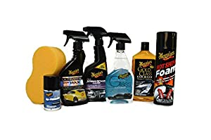meguiar 39 s 7 piece ultimate car care set full sized products with hot shine. Black Bedroom Furniture Sets. Home Design Ideas
