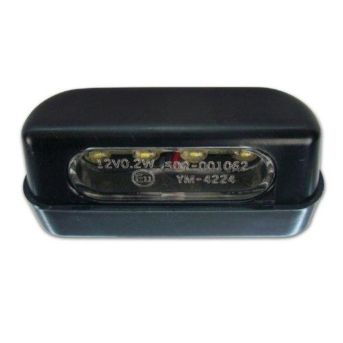 E-gepr/üft Alu-Geh/äuse Motorrad LED Kennzeichenbeleuchtung schwarz