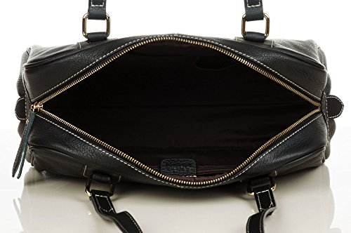 Aretha 141281-BL Sporty Genuine Cow Leather Shoulder Bag - more-bags