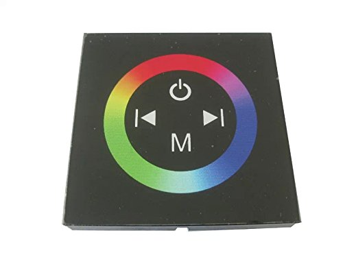 E-Goal TM08 Touch Panel Wheel LED RGB Controller Rainbow Color Ring DC12V-24V 12A/3 Channels RGB LED Strip Touch Panel Controller Mounting On Wall