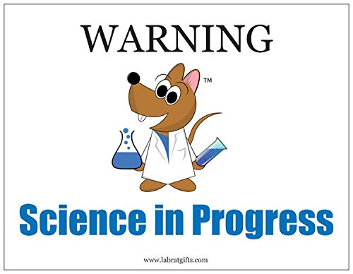 Funny Science ThemedWarning Science in Progress Magnet