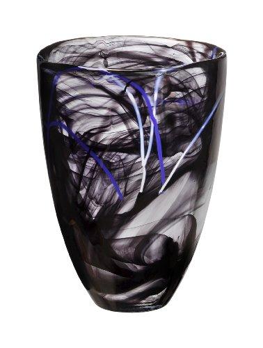 Kosta Boda Contrast Vase, Black Kosta Boda Vase