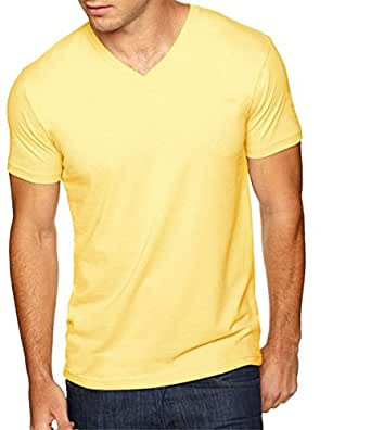 b2f3f9d16 Next Level Men's Sueded Baby Rib Soft V-Neck T-Shirt | Amazon.com