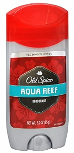 Old Spice Red Zone Deodorant Solid, Aqua Reef 3 oz (Pack of 7) Aqua Deodorant