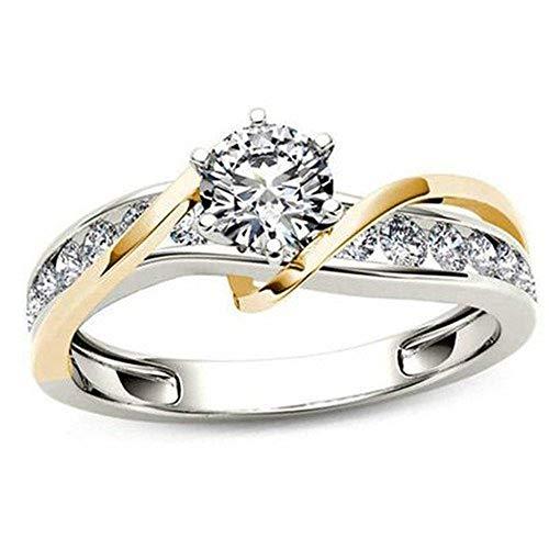Elegant Engagement Ring Unique Design Wedding Band Simulated Diamond Cubic Zirconia Jewelry
