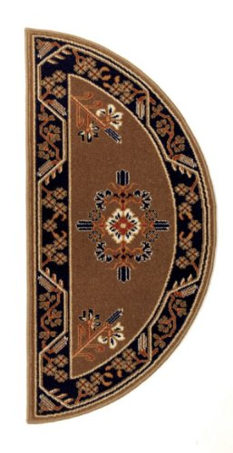 Minuteman International Cocoa Jardin Half Round Wool Hearth Rug (Fireplace Carpet compare prices)