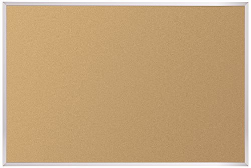 Best-Rite VT Logic Cork Bulletin Board, Aluminum Trim, 4 x 6 Feet (E301AG) by Best-Rite
