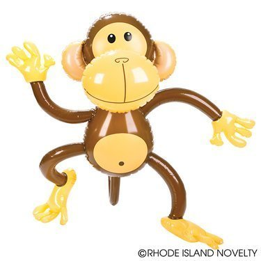 SIX Adorable 27'' MONKEY INFLATES/awesome party Decor/Favor/Jungle/Animal/Safari by RIN (Monkey Party Decorations)