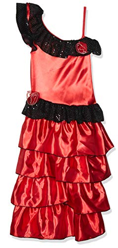Child's Red and Black Spanish Princess Costume,